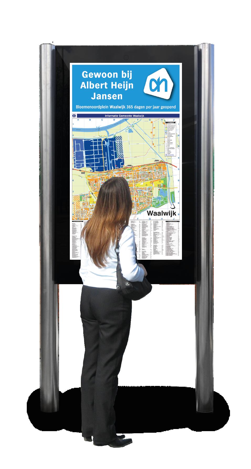 digitale bewegwijzering adverteren